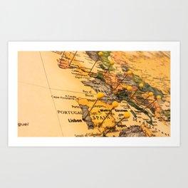 Destinations Art Print