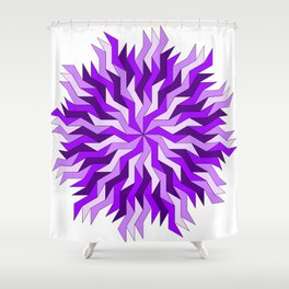 Purple Lightning Wheel Shower Curtain