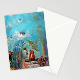 piano player Stationery Cards