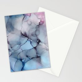 Alcohol Ink - Depth Stationery Cards