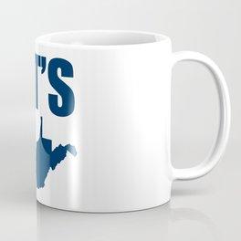 Let's Go West Virginia Map Coffee Mug