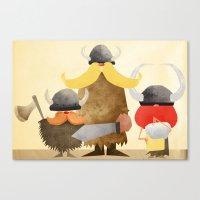 vikings Canvas Prints featuring Vikings by Parin Heidari