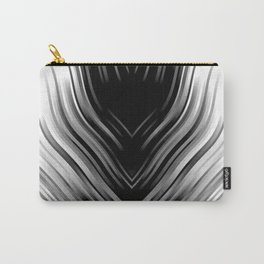 stripes wave pattern 3 bwii Carry-All Pouch