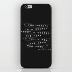 A Photograph Is A Secret Embossed Labels iPhone & iPod Skin