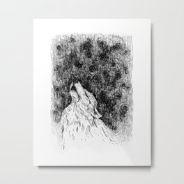 Wolf Cry Metal Print