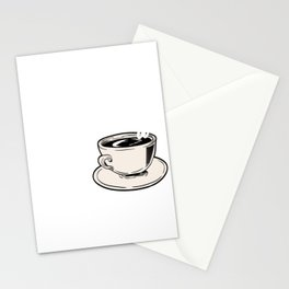"""Great Coffee T-shirt For Caffeine Lovers """"A Day Without Coffee Is Like Just Kidding, I Have No Idea"""" Stationery Cards"""
