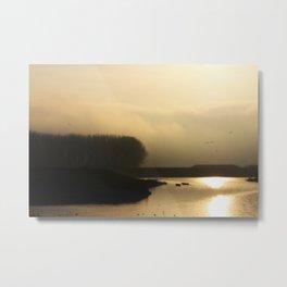 Golden Light - JUSTART © Metal Print