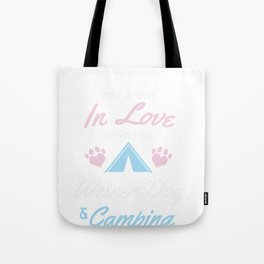 Girl In Love With Her Weiner And Camping Tote Bag