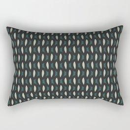 geo six-teal Rectangular Pillow