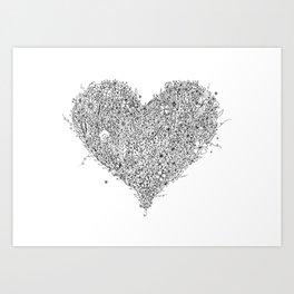 Heart - Intricate Heart Shaped Art Art Print
