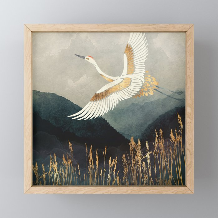 Elegant Flight Framed Mini Art Print
