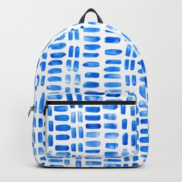 Abstract rectangles - blue Backpack