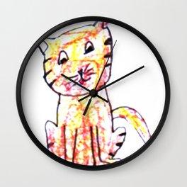 Kitten kay Wall Clock