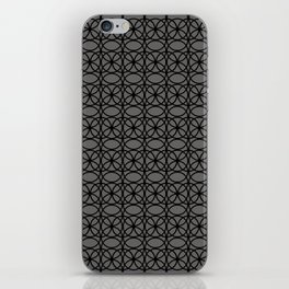 Pantone Pewter and Black Rings, Circle Heaven 2, Overlapping Ring Design iPhone Skin