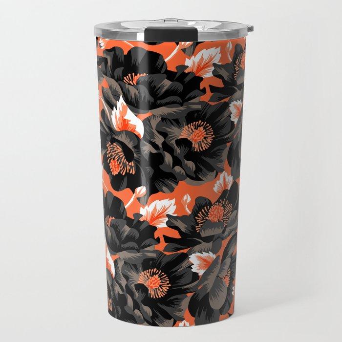 Mount Cook Lily - Orange/Black Travel Mug