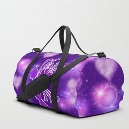 Power Purple For a Cure - The Wings of Love Duffle Bag