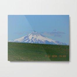 road trip, mountain, mnt hood, mt hood, oregon, meadow Metal Print