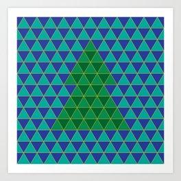 Christmas tree triangles Art Print