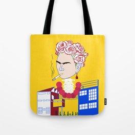 Abstract Frida Kahlo Tote Bag