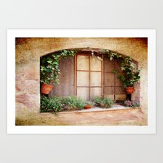 Mediterranean window Art Print