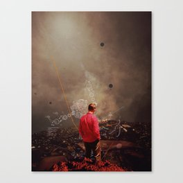Weighing my Chances to Return Canvas Print