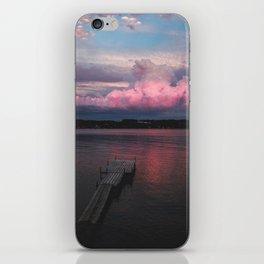 Pink Sunset at the Lake iPhone Skin