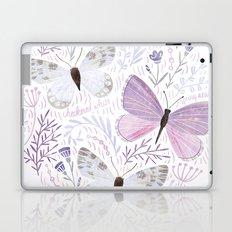 Purple Butterflies Laptop & iPad Skin