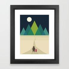 Long Journey Framed Art Print