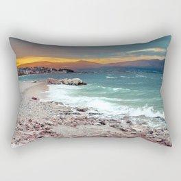 on the beach after the storm, Croatia Rectangular Pillow