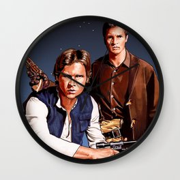 The Captain and The Scoundrel Wall Clock