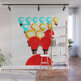 THE MARCH OF THE LIGHTBULBS Wall Mural
