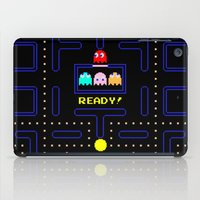 pac man iPad Cases featuring Pac Man by Trash Apparel