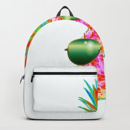 Electric Pineapple with Shades Backpack