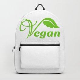 Vegan Text Logo Backpack