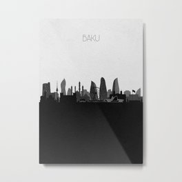 City Skylines: Baku Metal Print
