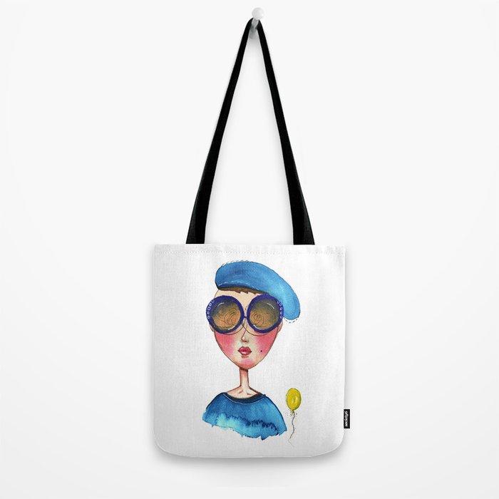 Blue Beret Tote Bag