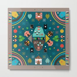 Cute Neighborhood Metal Print
