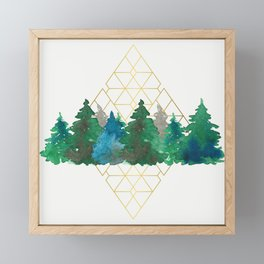 X-mas trees Framed Mini Art Print