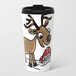 Reindeer Munches a Cap Travel Mug