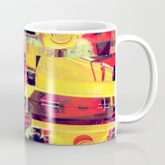 Industrial Abstract Red Mug