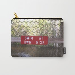 SWIM AT OWN RISK Carry-All Pouch