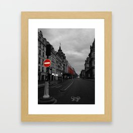 Paris black and white with color Framed Art Print