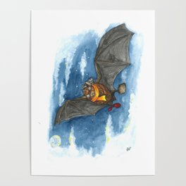 Little Worlds: Travel Bat Poster