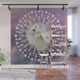 Mandala Solar Wolf Wall Mural