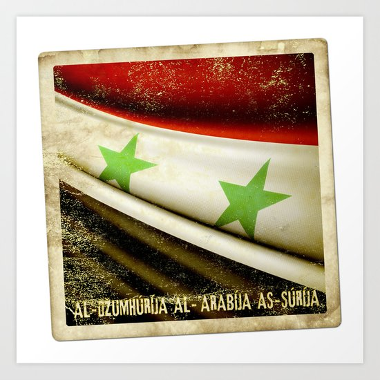 STICKER OF SYRIA flag Art Print