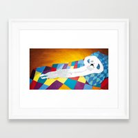naked Framed Art Prints featuring naked by Kike IBANEZ
