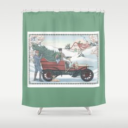 Seasons Greetings (from Steve and Bucky) Shower Curtain