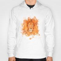 splatter Hoodies featuring Splatter Lion by Sarah Sutherland