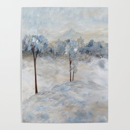 Blue Winter Day Poster