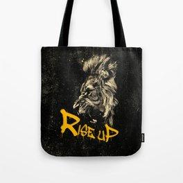 Rise Up - Roaring Lion Revolution Art Tote Bag